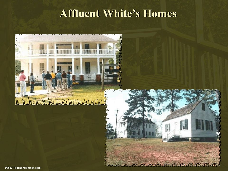 Affluent Whites Homes