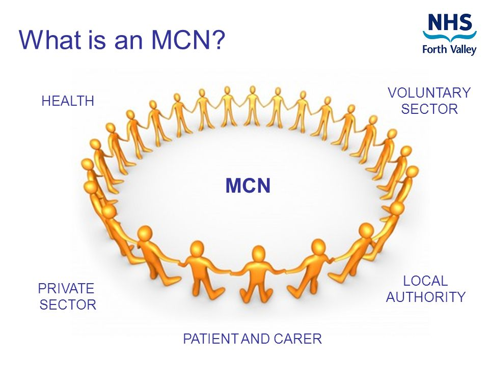 MCN HEALTH LOCAL AUTHORITY PATIENT AND CARER VOLUNTARY SECTOR PRIVATE SECTOR What is an MCN