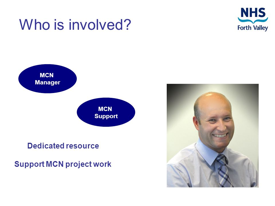 Who is involved MCN Manager Dedicated resource Support MCN project work MCN Support