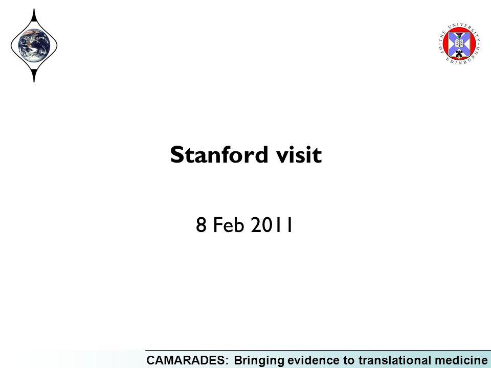 CAMARADES: Bringing evidence to translational medicine Stanford visit 8 Feb 2011