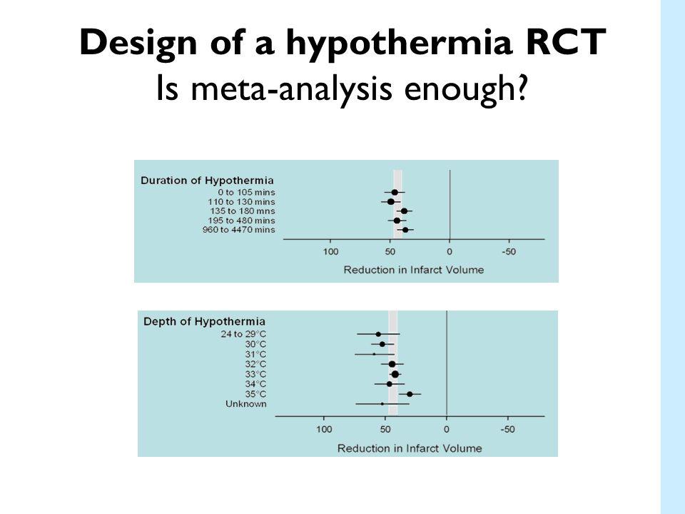 Design of a hypothermia RCT Is meta-analysis enough?