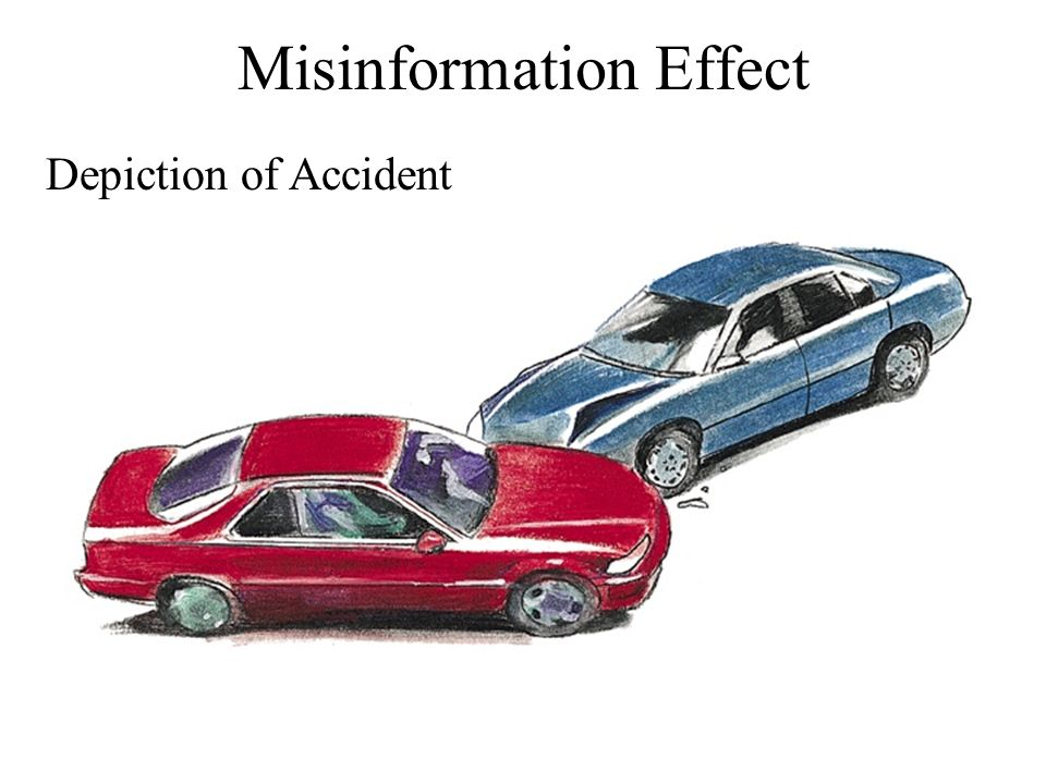 Misinformation Effect Depiction of Accident