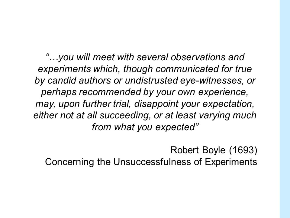 One which describes some biological truth in the system being studied Internal validity: the extent to which an experiment accurately describes what happened in that model system Can be inferred by extent of reporting of measures to avoid common biases What is a Valid Experiment?