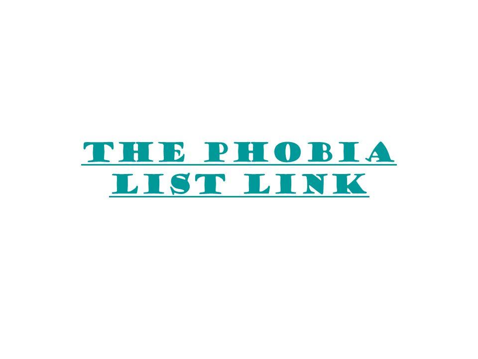 The Phobia List Link