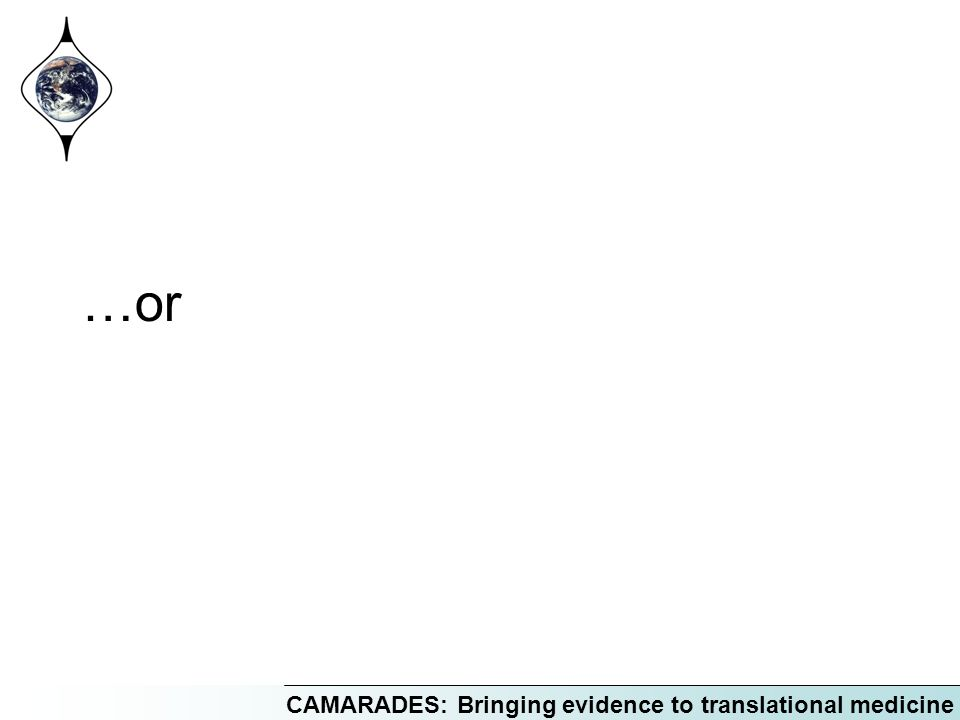 CAMARADES: Bringing evidence to translational medicine …or