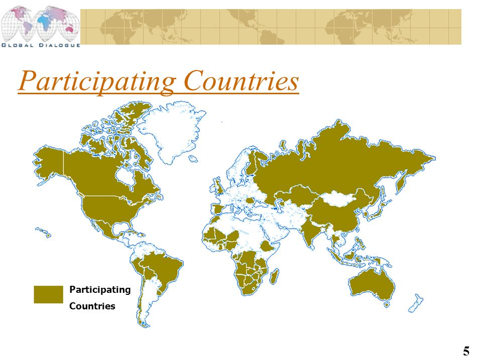 5 Participating Countries Participating Countries