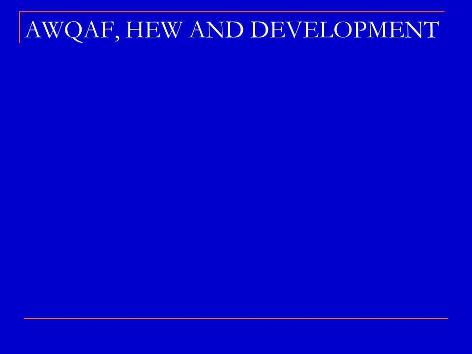 AWQAF, HEW AND DEVELOPMENT