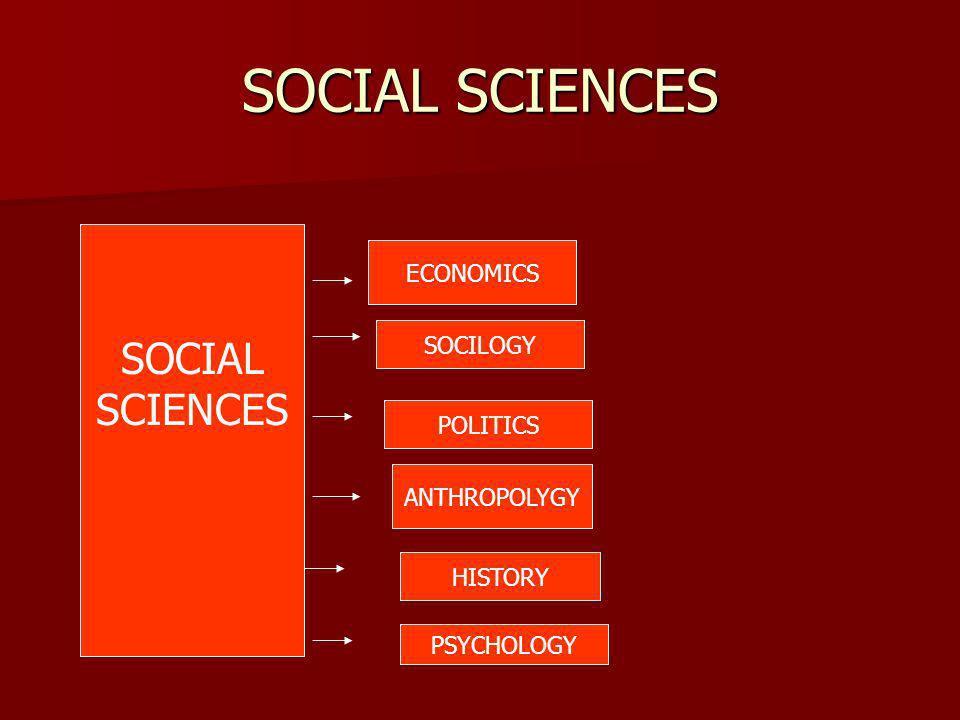 SOCIAL SCIENCES SOCIAL SCIENCES ECONOMICS SOCILOGY POLITICS ANTHROPOLYGY HISTORY PSYCHOLOGY