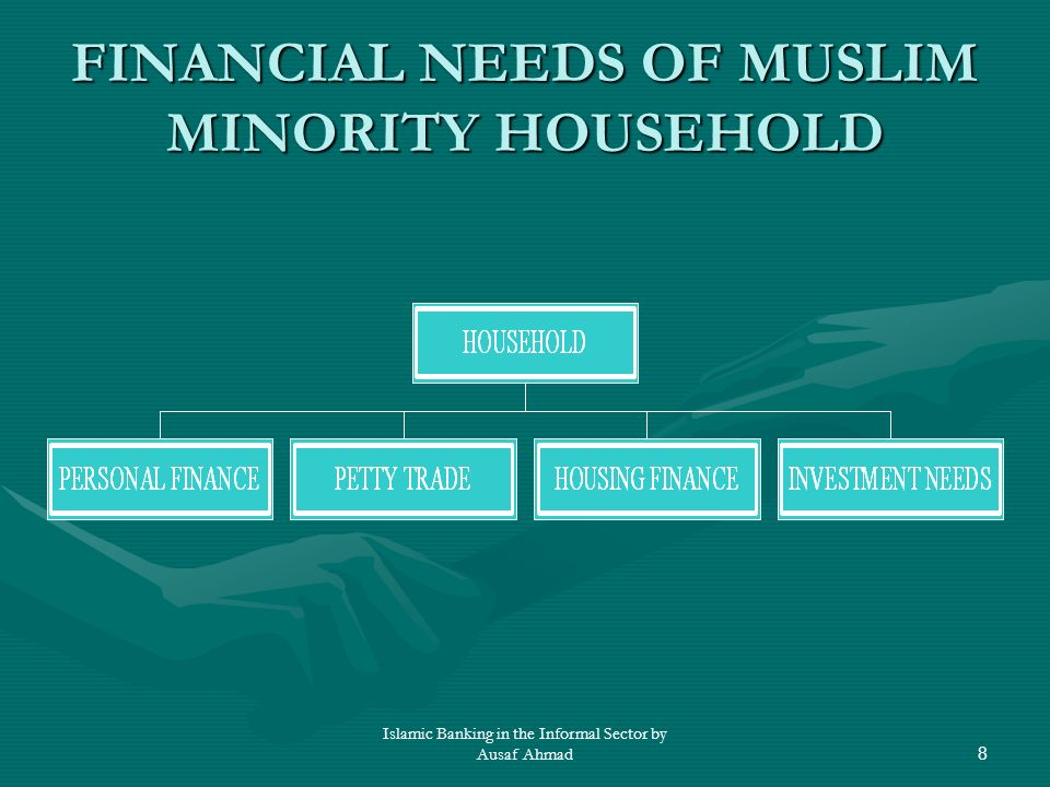 Islamic Banking in the Informal Sector by Ausaf Ahmad8 FINANCIAL NEEDS OF MUSLIM MINORITY HOUSEHOLD