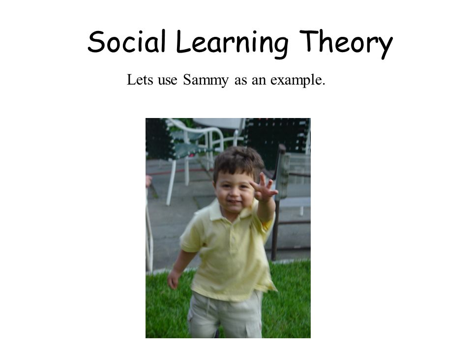 Social Learning Theory Lets use Sammy as an example.