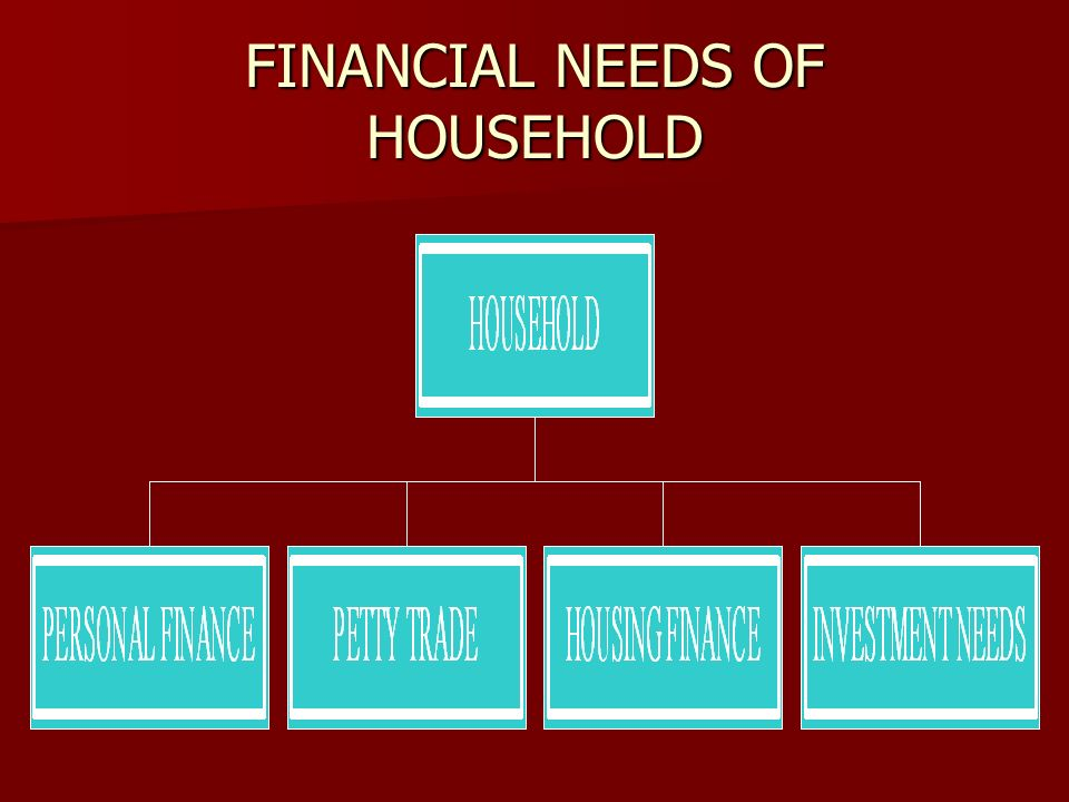FINANCIAL NEEDS OF HOUSEHOLD