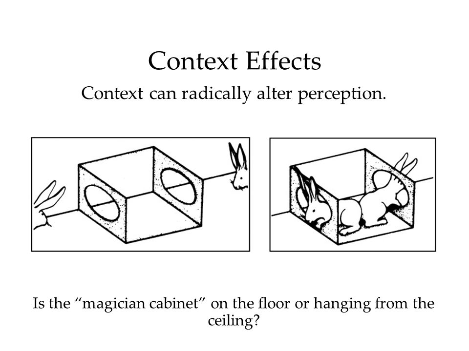 Is the magician cabinet on the floor or hanging from the ceiling.