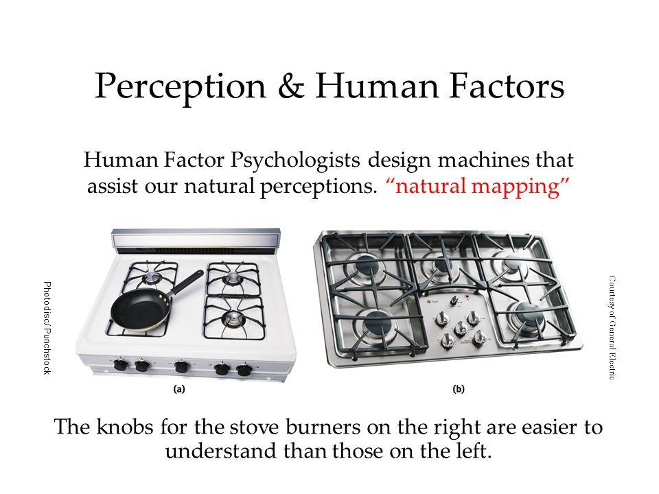 Perception & Human Factors Human Factor Psychologists design machines that assist our natural perceptions.