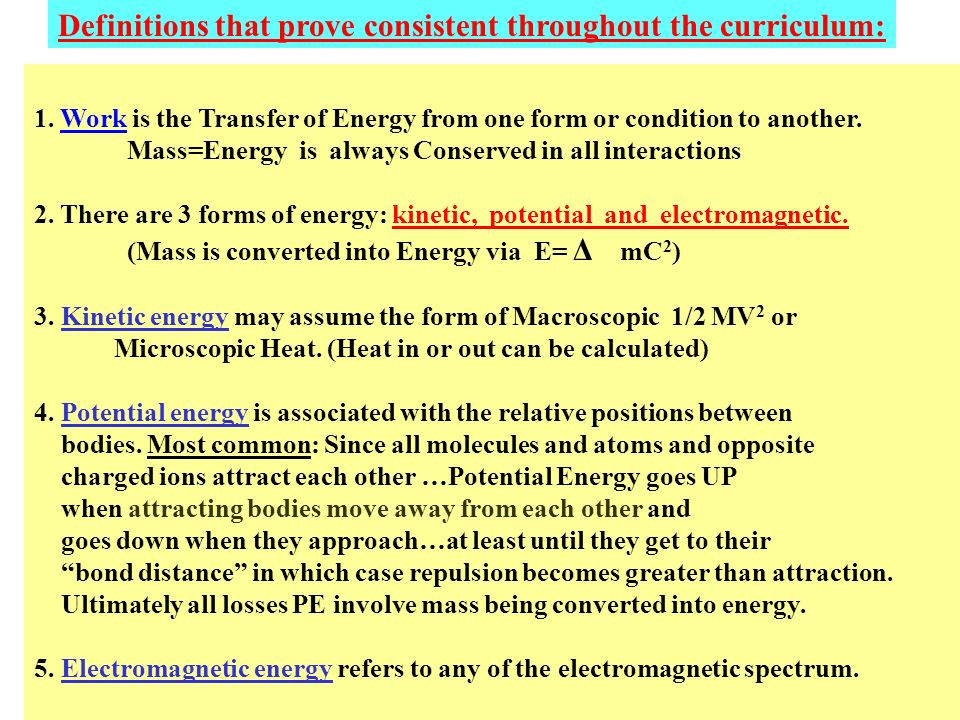 Examples of sources of potential energy in systems 1.