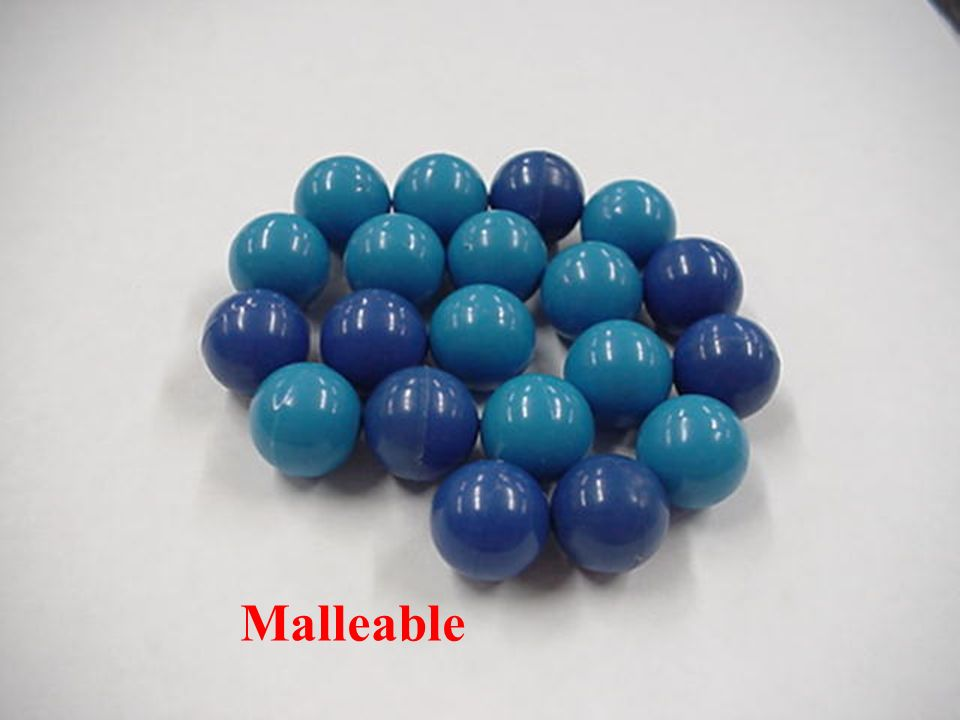 1. For metallic bonds you can buy magnetized colored balls from Arbor Scientific 20 balls for 2.70