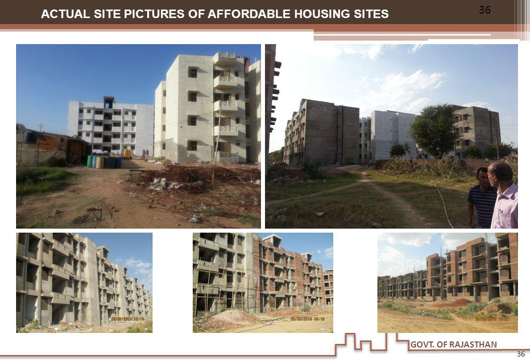 GOVT. OF RAJASTHAN ACTUAL SITE PICTURES OF AFFORDABLE HOUSING SITES 36