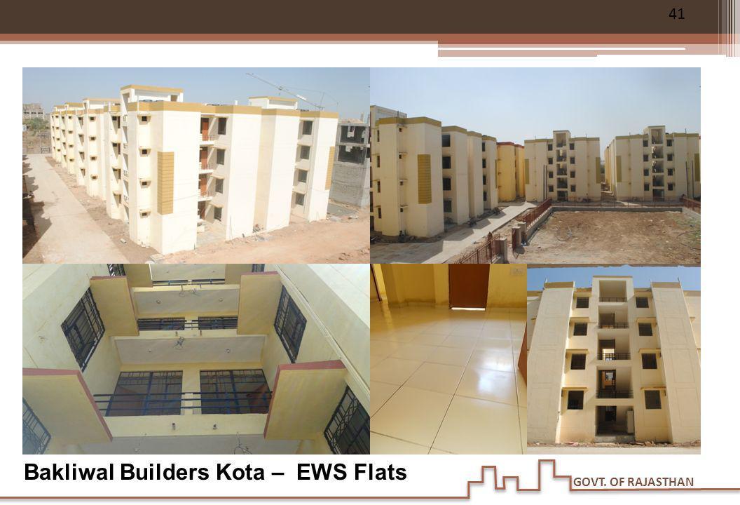 GOVT. OF RAJASTHAN Bakliwal Builders Kota – EWS Flats 41