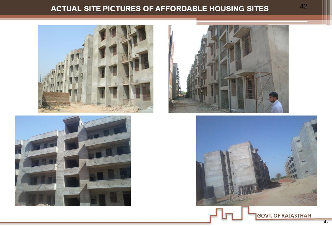 GOVT. OF RAJASTHAN ACTUAL SITE PICTURES OF AFFORDABLE HOUSING SITES 42