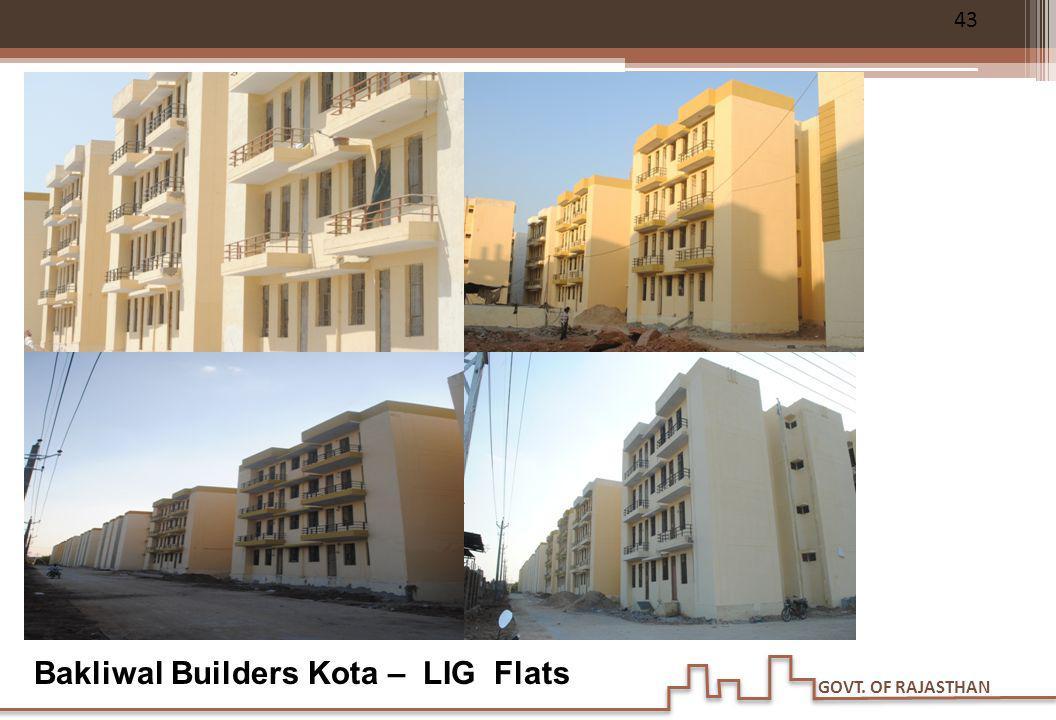 GOVT. OF RAJASTHAN Bakliwal Builders Kota – LIG Flats 43
