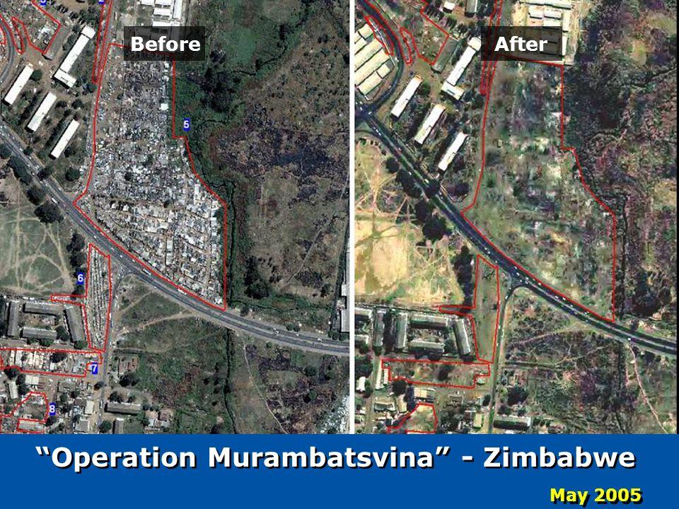 After Before May 2005 Operation Murambatsvina - Zimbabwe