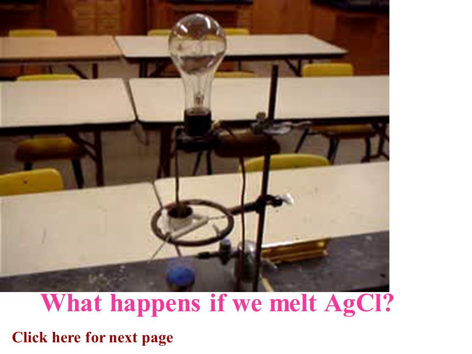 Click here for next page What happens if we melt AgCl