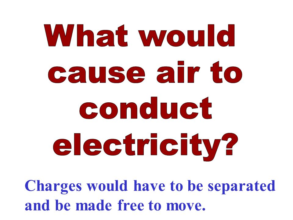 Charges would have to be separated and be made free to move.