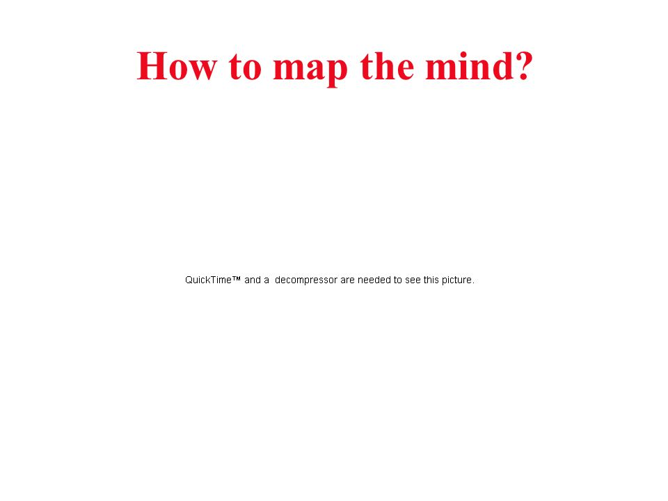 How to map the mind