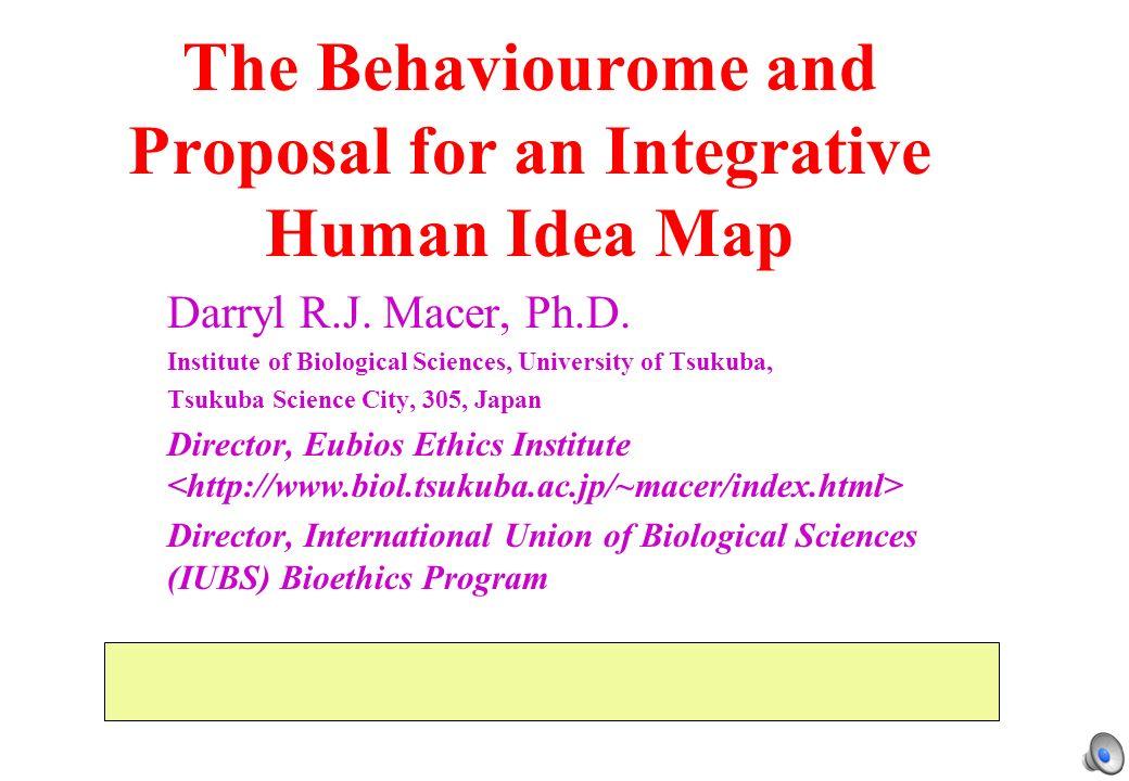 The Behaviourome and Proposal for an Integrative Human Idea Map Darryl R.J.