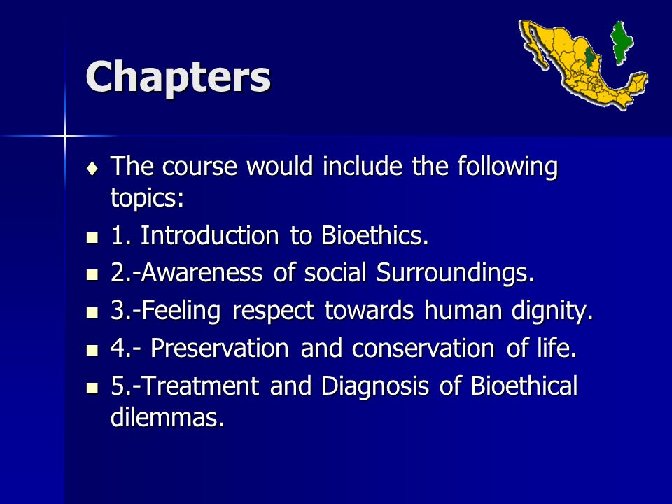 Conclusions Negative behavior was successfully modified through the application of Bioethics as a formal curricular course in Natural Sciences and Humanities as a didactical behavioral model.