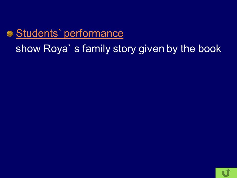 Students` performance show Roya` s family story given by the book