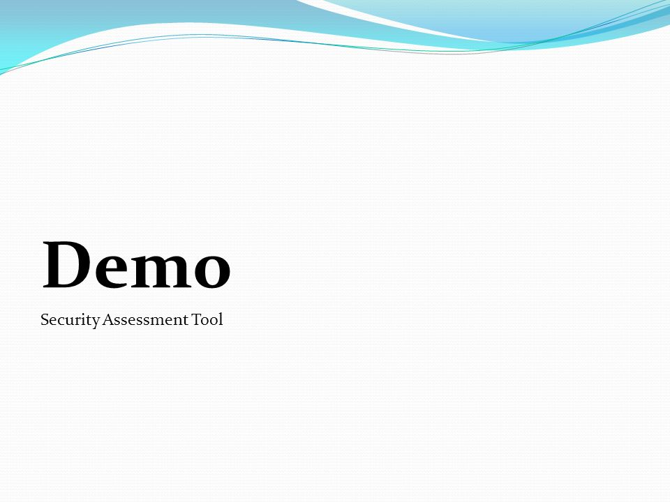 Demo Security Assessment Tool