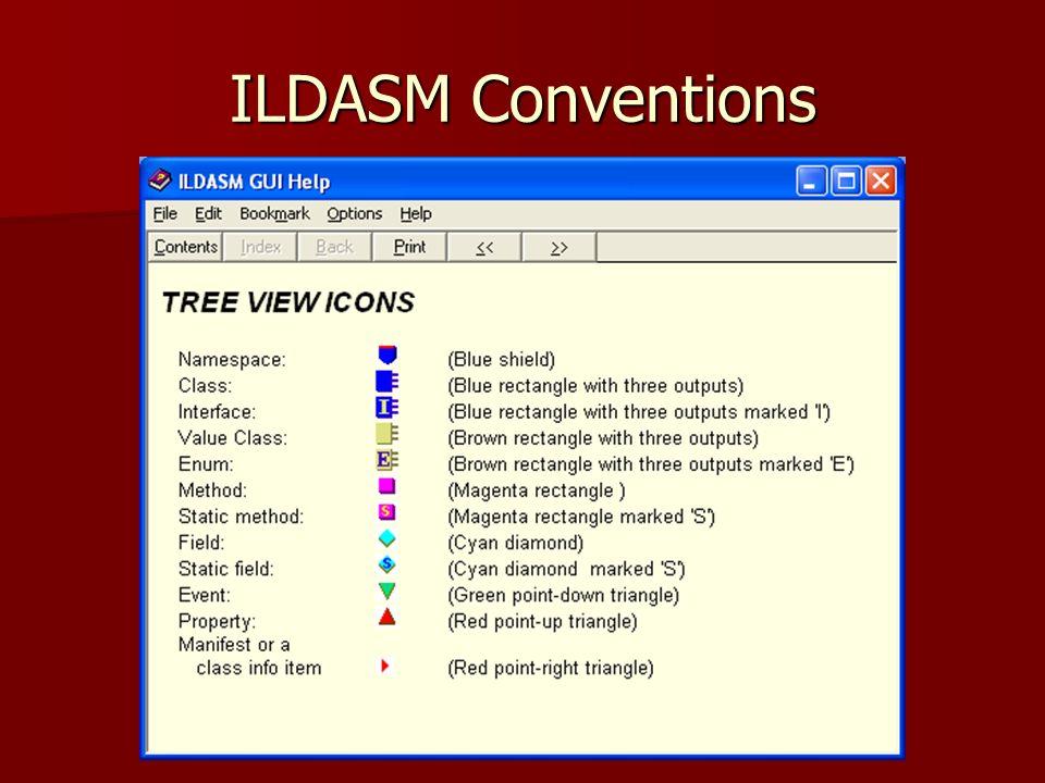 ILDASM Conventions