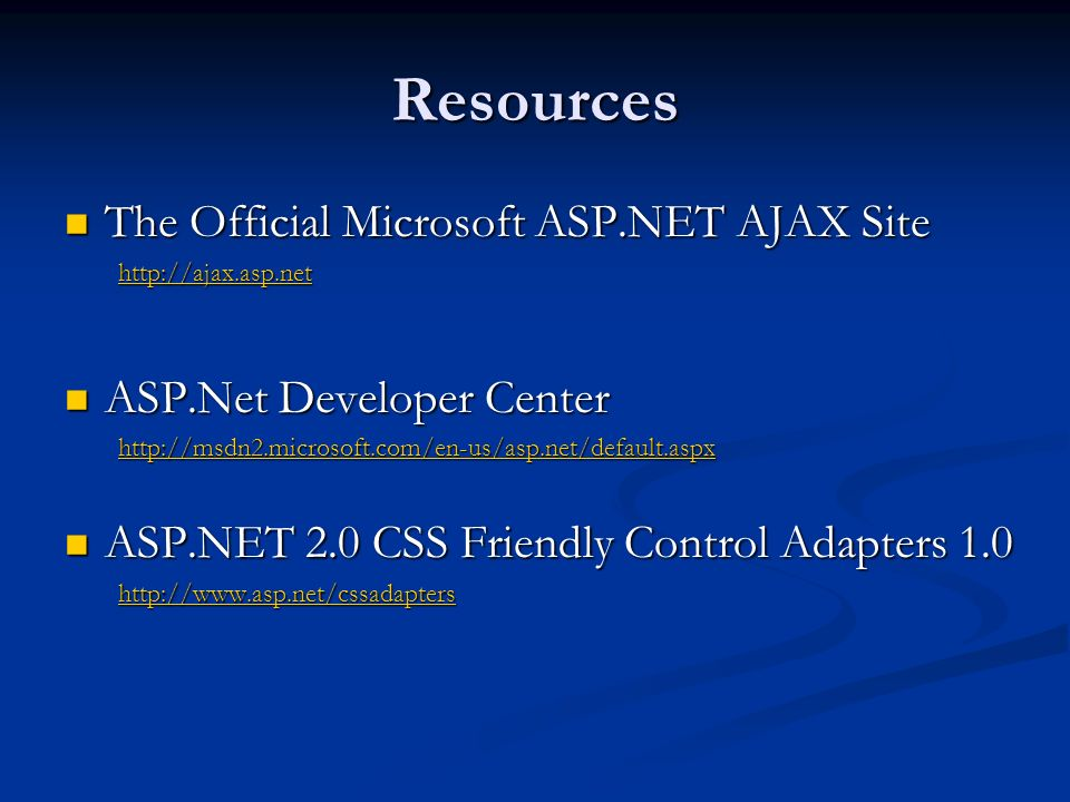 Resources Using Ajax.NET Pro in a SharePoint Web Part The article describes how to configure Ajax.NET Pro with SharePoint so that it can be used in Web Parts.