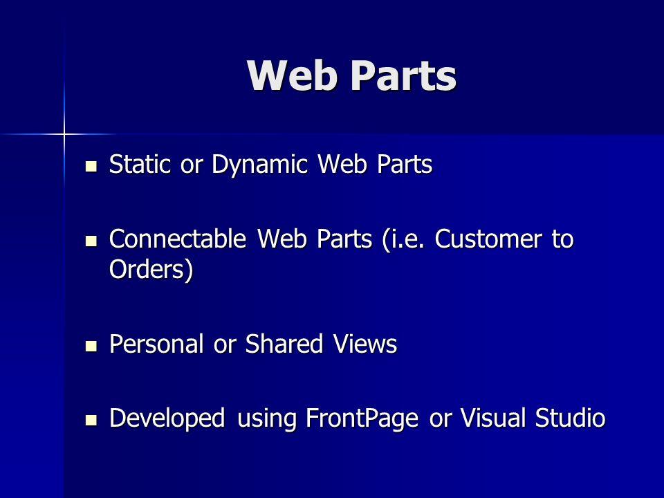 Web Part Evolution v1.0: VBScript or JavaScript for SharePoint 2001.
