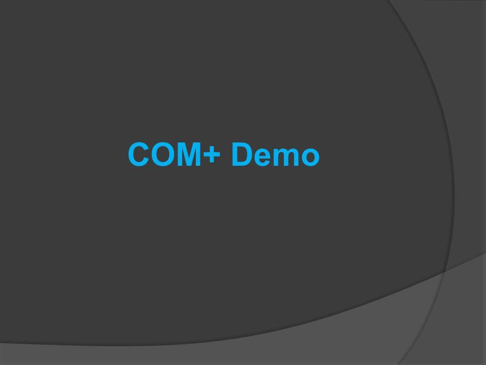 COM+ Demo