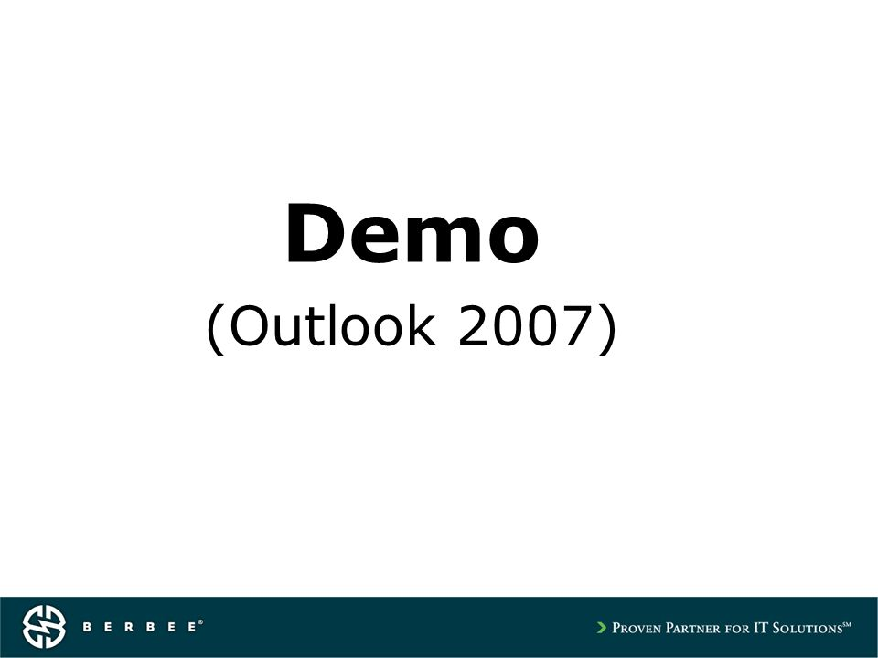 Demo (Outlook 2007)