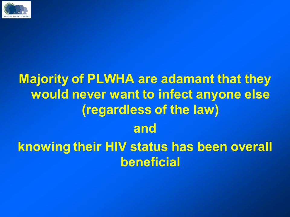PLWHA and transmission