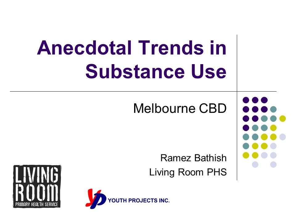 Anecdotal Trends in Substance Use Melbourne CBD Ramez Bathish Living Room PHS