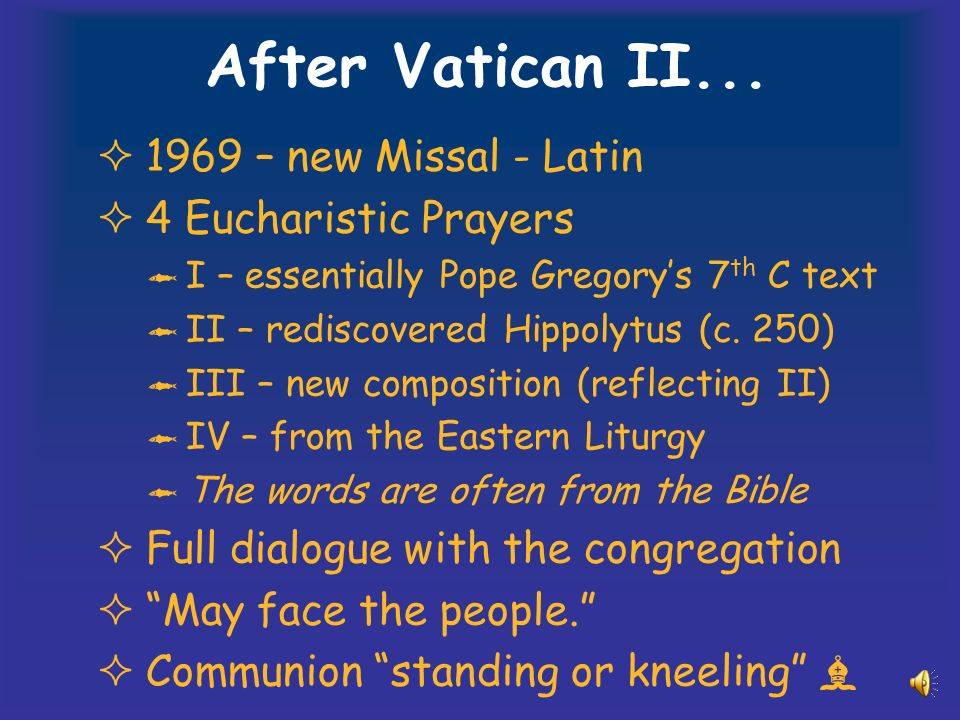 After Vatican II...