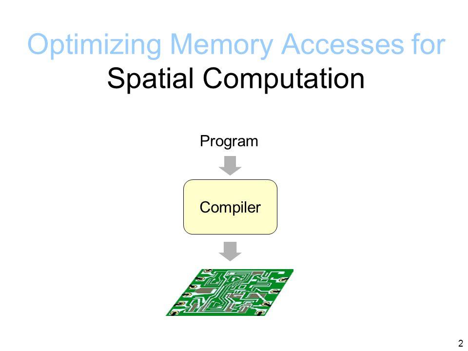 2 Optimizing Memory Accesses for Spatial Computation Program Compiler