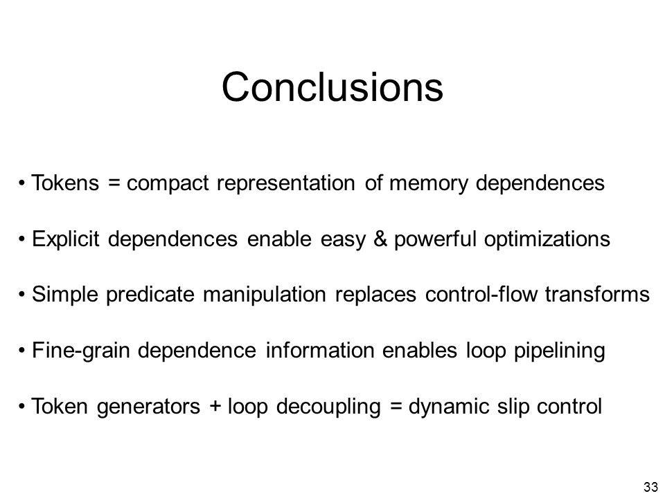 32 Performance Impact of Memory Optimizations Speed-up vs.