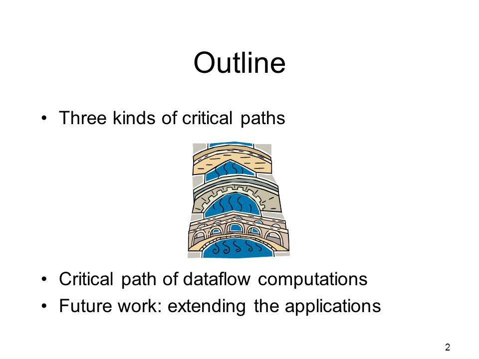 33 Interim Conclusion Critical path: powerful tool to analyze performance Can be completely automated Can we extend this to other parallel models of computation?