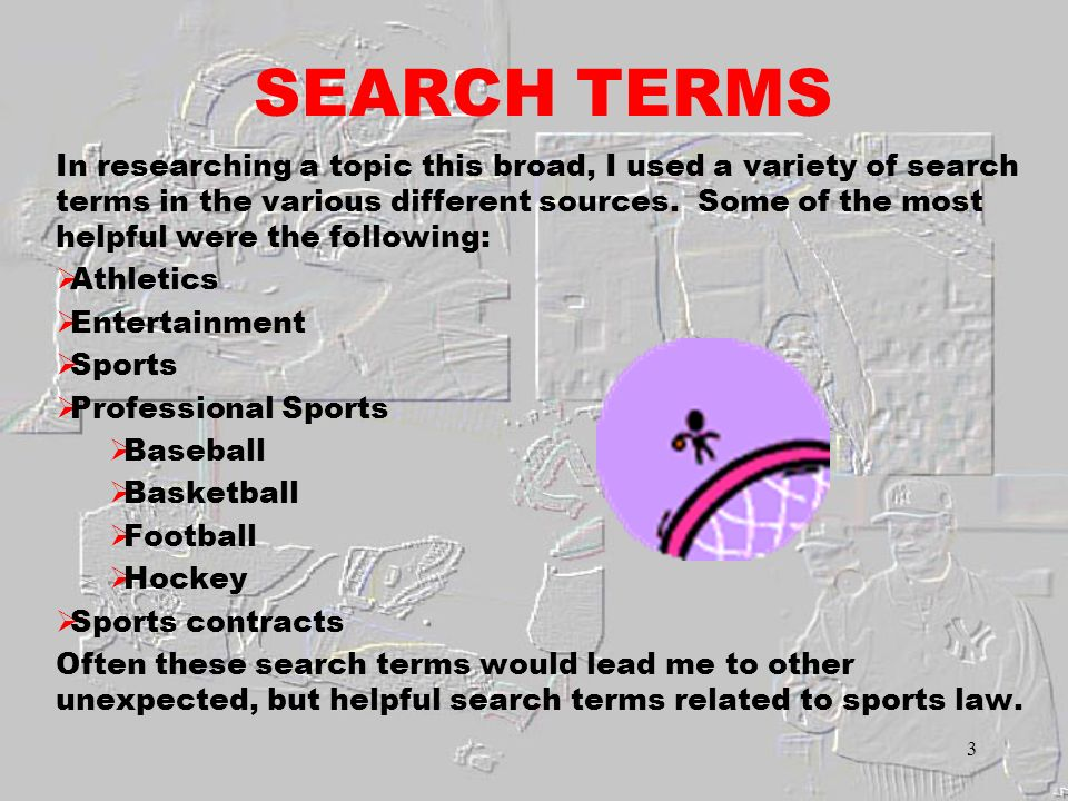 2 INTRODUCTION Sports law is a broad based mixture of laws that apply to athletes and the sports they play.