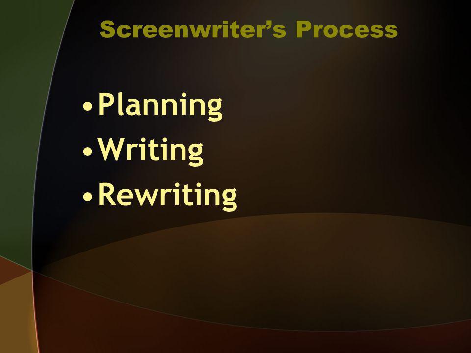 Screenwriters Process Planning Writing Rewriting