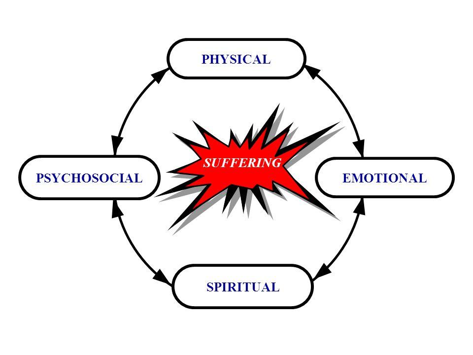 SUFFERING EMOTIONAL PSYCHOSOCIAL PHYSICAL SPIRITUAL