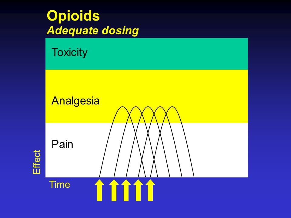 Toxicity Analgesia Pain Adequate dosing Time Effect Opioids