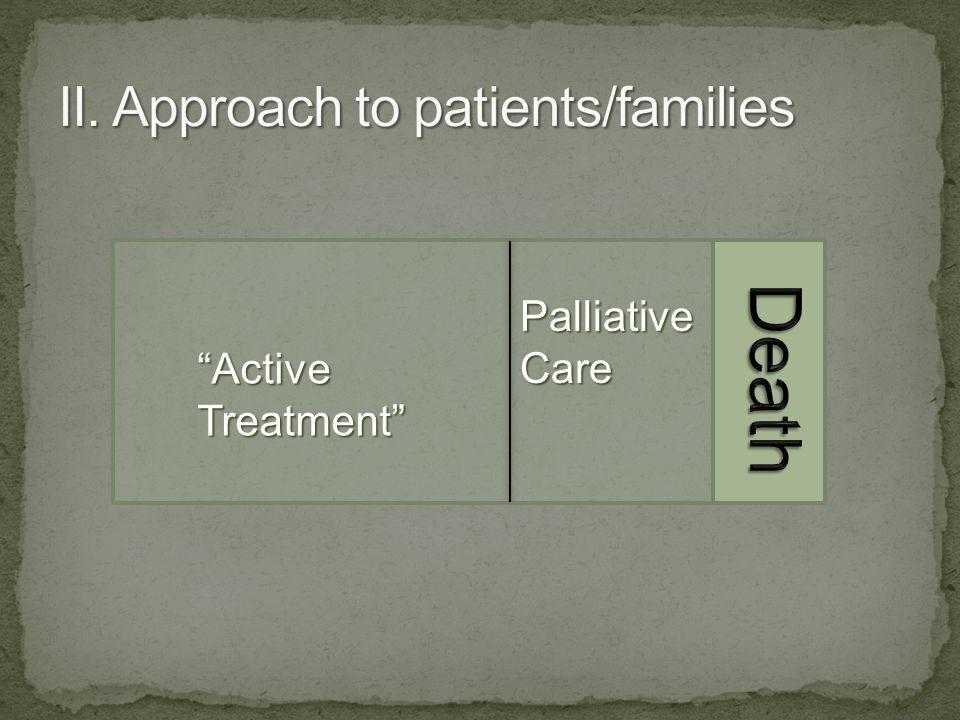Active Treatment Palliative Care