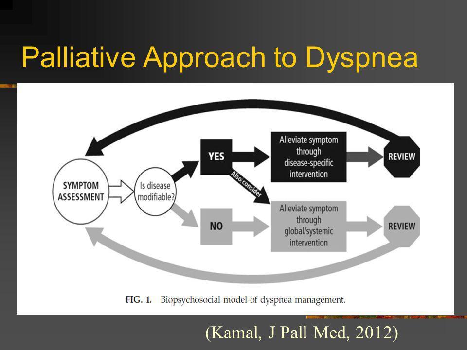 Palliative Approach to Dyspnea (Kamal, J Pall Med, 2012)