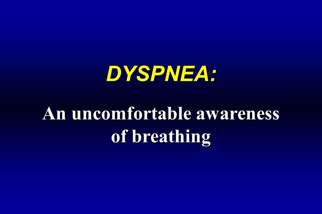 DYSPNEA: An uncomfortable awareness of breathing