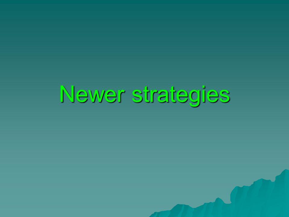 Newer strategies